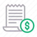 bill, ecommerce, invoice, reciept, shopping icon