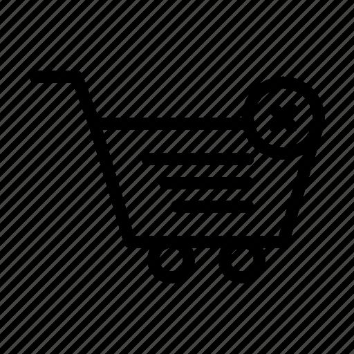cancel, cart, delete, shopping, trolley icon