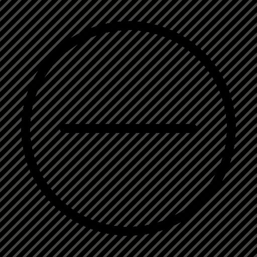 decrease, hide, low, minus, remove icon