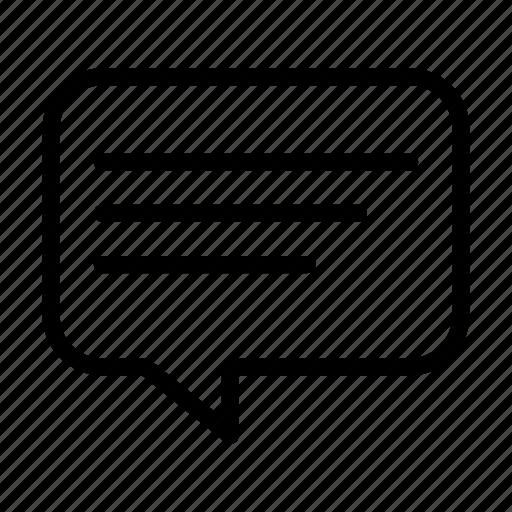 bubble, comment, dialog, message, text icon
