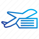 aircraft, commerce, tickets icon