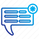 chat, commerce, e, notifications icon
