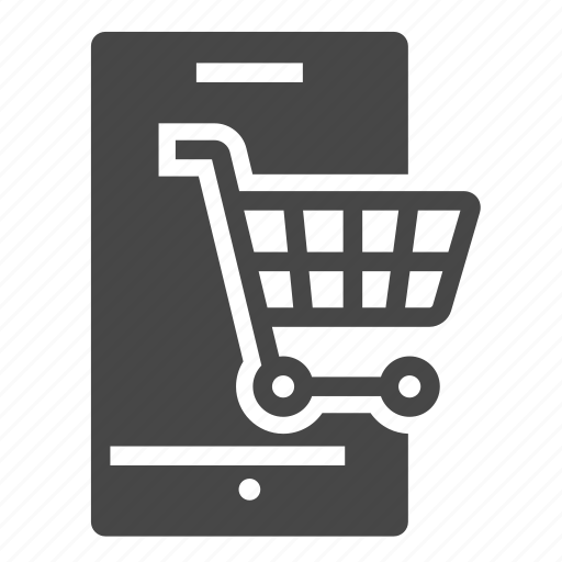 cart, commerce, device, e, mobile, shopping icon