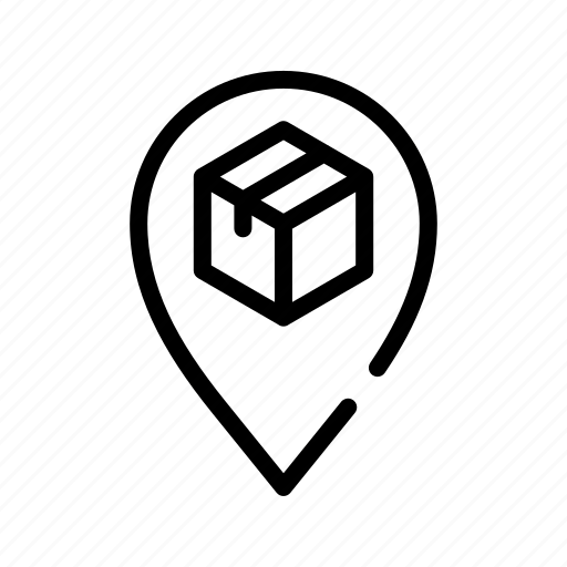 box, ecommerce2, location, pin icon
