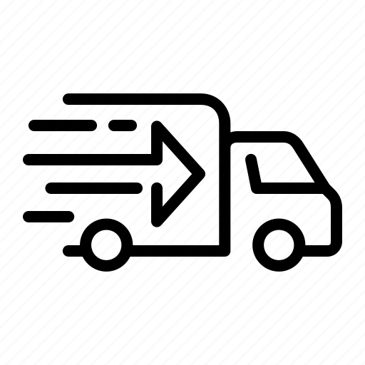 delivery, ecommerce2, express, shipping, transport, truck, vehicle icon