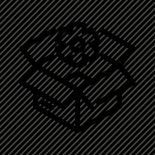box, ecommerce2, settings icon