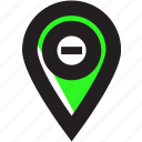 asset, delete, location, marker, remove icon