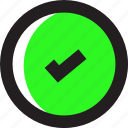 asset, confirmation, green, mark icon