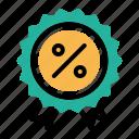 award, badge, ecommerce, finance, medal, percentage, ratio