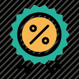 award, badge, ecommerce, finance, medal, percentage, ratio icon