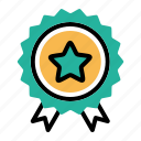 badge, bookmark, ecommerce, favourite, like, medal, star icon