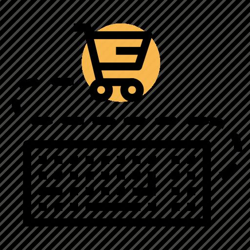 cart, ecommerce, keyboard, shop, shopping icon