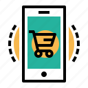 cart, device, discount, ecommerce, mobile, offer, shop icon