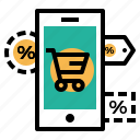 ecommerce, finance, label, offer, sale, store, tage icon
