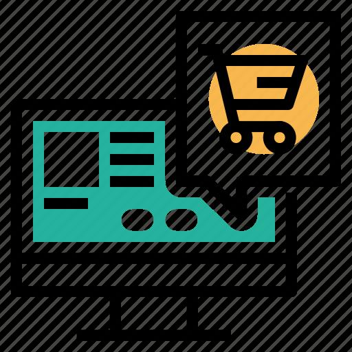 buy, cart, description, ecommerce, information, item, window icon