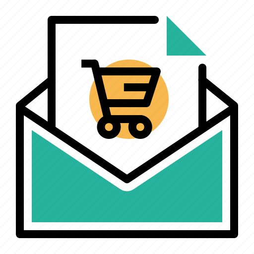 ecommerce, email, message, notification, offer, online, shopping icon