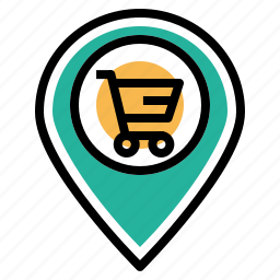 cart, ecommerce, locate, location, navigation, offer, shop icon