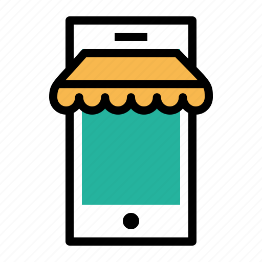 ecommerce, mobile, online, sell, shop, shopping, store icon