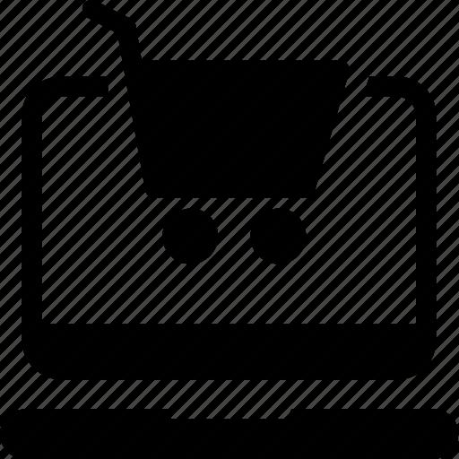 cart, ecommerce, laptop, mobile, shopping icon icon