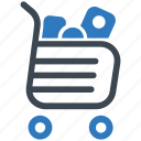 full, groceries, online shopping, shopping cart icon