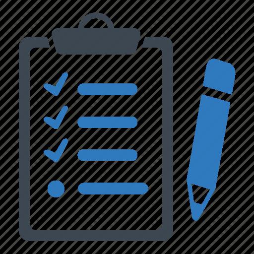 clipboard, list, shopping icon