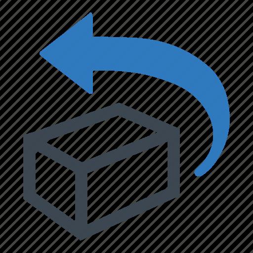 box, previous, return icon