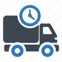 clock, delivery, shipping icon