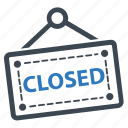 closed shop, closed sign icon
