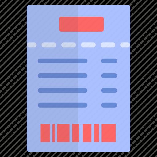 barcode, bill, customer, receipt icon