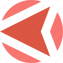 arrow, back, left, navigation, pointer, previous icon