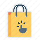 bag, cart, gesture, hand, online, shop, shopping icon