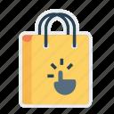 bag, cart, gesture, hand, online, shop, shopping