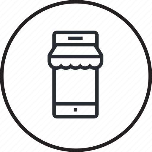 internet, line, m-commerce, mobile, online, sale, shopping icon