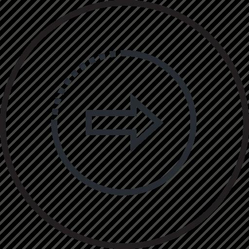 arrow, e-commerce, line, next icon
