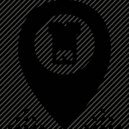 cloth, location, pin, shop, store icon