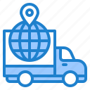 delivery, ecommerce, global, location, truck