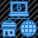 ecommerce, global, laptop, shop, shopping