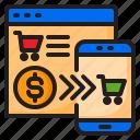 cart, ecommerce, mobilephone, shop, shopping icon
