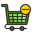 cart, delete, ecommerce, online, shopping