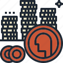 coin, goal, growth, saving, treasure icon