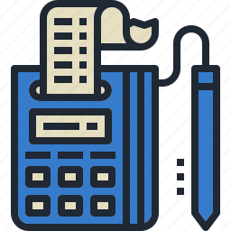 card, credit, machine, payment, receipt icon
