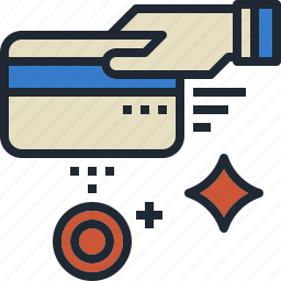 card, cash, credit, payment, swipe icon