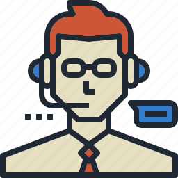 commentator, customer, service, support, team icon