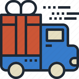 delivery, gift, shipping, transportation, truck icon