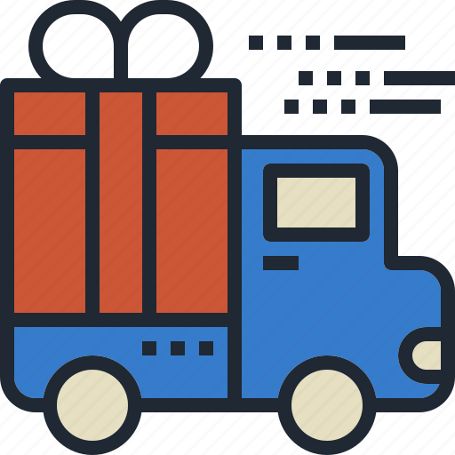 Delivery, gift, shipping, transportation, truck icon - Download on Iconfinder