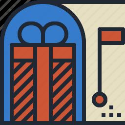 gift, item, mailbox, present, receive icon