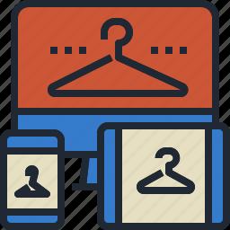 cloth, online, shop, web, website icon
