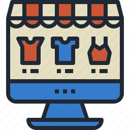 computer, ecommerce, fashion, online, store icon