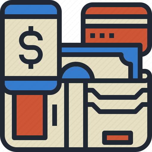 card, credit, method, mobile, payment icon