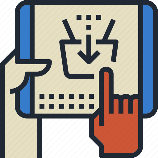basket, check, mobile, out, shopping icon